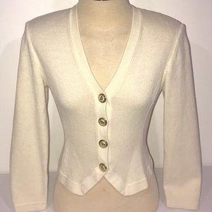 St. John Basics Button Down Knit Cardigan Size P